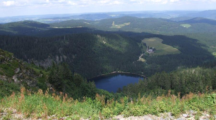 Blick vom Feldberg auf den Feldsee